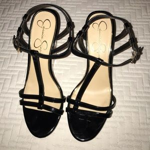 GENTLY USED JESSICA SIMPSON WEDGES SIZE 8. BLACK